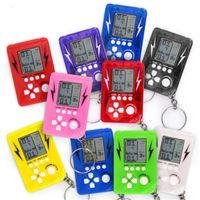Mini jeu de briques Tetris enfants Console de jeux portable lecteurs LCD portable enfants jouet éducatif Jouets électroniques Classique