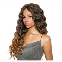 Crochet Capelli ricci sintetici intrecciare i capelli estensioni Onda profonda Ombre colori Crochet Trecce Freetress Trecce massa dei capelli