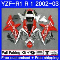 Bodys für YAMAHA YZF-1000 YZF R 1 YZF R1 2002 2003 Karosserie 237HM.34 YZF 1000 YZF-R1 02 YZF1000 Gestell YZFR1 02 03 Verkleidungslager Fortuna rot