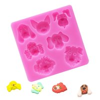 1 PC Animal 3D Dog silicone mold fondant mold cake decoratin...