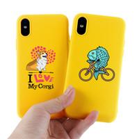 telefone celular shell dos desenhos animados animal bonito Silicone Case Capa Para iPhone11 / 6/7/8 / XR / XS Atrás Proteger Rubber SJK04 Telefone