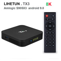 TX3 Android Приставка 9,0 TV BOX Amlogic S905X3 4GB 64GB 2,4 5GHz Wifi Bluetooth Google Netfilx Youtube 8K Set