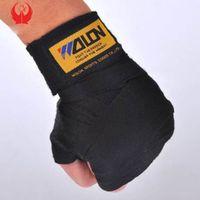 2PCS / لفة عرض 5CM طول 2.5M القطن الرياضة الشريط الملاكمة ضمادة ساندا الملاكمة التايلاندية مجلس العمل المتحد قفازات للتايكواندو اليد الأغطية