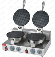 تجهيز الأغذية المعدات مزدوجة رأس الآيس كريم صانع / آلة مخروط الهراء 110 فولت 220 فولت