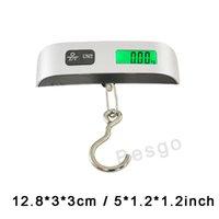Capacité 50 kg Mini numérique bagages Échelle Échelle à main LCD électronique portable échelle crochet de suspension électronique dispositif de pesage BH2895 DBC