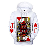 E-BAIHUI 3D Muster Poker J Hoody Lustige Männer Weiß Frühlingsmode Sweatshirts Lose Novetly Männliche Langärmelige Hoodies L095