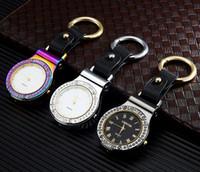 Più nuovo colorato orologio da tasca elettronico USB accendisigari con portachiavi auto a led auto portachiavi per sigaretta utensili per tubi per fumo accessori 5 colori