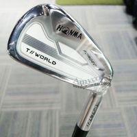 Nuevos planchas de golf Set Honma TW747 VX Clubes de golf 4-11IRONES Set El grafito y el eje de acero R o S Golf Eje de golf Envío gratis