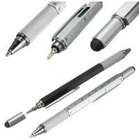 جديد وصول أداة قلم حبر جاف المفك حاكم الروح المستوى مع كبار ومقياس متعدد الوظائف المعادن البلاستيك القلم