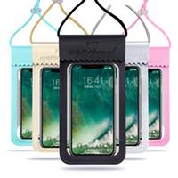 Im Freien Screen-Handy wasserdichte Tasche TPU Transparent Smartphone Abdeckung Allgemeine Wasserdichte Abdeckungen Wandern Tauchen Schwimmen 11sh O1