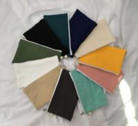 단순 14 색 빈 캔버스 지퍼 연필 케이스 펜 파우더 목화 화장품 가방 메이크업 가방 휴대 전화 클러치 백