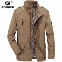 Top Design  Man Thick Autumn Winter Outwear Slim Cargo Tooling Pocket Overcoat 2019 Spring Long Jacket Outwear  Man
