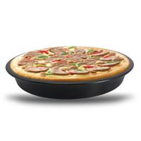 Антипригарным пицца противень круглый глубокое блюдо пицца Пан пирог лоток углеродистая сталь торт кондитерские изделия выпечки плесень Пан шаблон VT0240