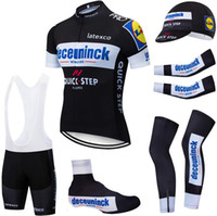 6PCS Full Set Black Team QUICKSTEP che cicla 20D bicicletta pantaloncini Ropa Ciclismo estate secca rapido pro fondo BICICLETTA Maillot