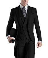 사용자 정의 디자인 화이트 / 블랙 / 그레이 / 라이트 그레이 / 퍼플 / 버건디 / 블루 테일 코트 남성 파티 들러리 웨딩 턱시도 정장 (재킷 + 바지 + 넥타이 + 조끼)