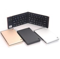 F66 Mini Teclado Bluetooth Plegable Llave Inalámbrica de Metal Teléfono Android Tableta Oficina Inteligente Preferida Para Portátil Laptop Mac Escritorio TV