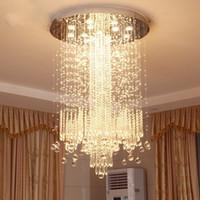 الحد الأدنى الحديثة أدى الغرور درج طويل كريستال الثريا الإضاءة لغرفة المعيشة فندق كبير بهو قاعة مصباح الفاخرة
