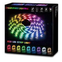 LEDストリップライト5M 5050 3528 5630暖かい/クーランドホワイトレッド/グリーンRGBフレキシブル5Mロール300 LED 12V屋外リボンの防水