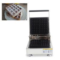 Ticari Kullanım Belçikalı Liege Waffle Makinesi Elektrikli 110 v 220 v Kare Brüksel Waffle Demir Baker Fırın Tost