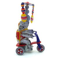 NB Cartoon Tinplate Aufzieh-Spielzeug, Elefanten reiten Tricycles, Spanisch Akrobatik, Nostalgisch Ornament, Kindergeburtstags-Weihnachtsgeschenk-Collect, MS814,2-2
