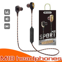 Bluetooth Headphones M18 Sports Bluetooth Earphones With Mic Super Bass Headset For Iphone Samsung LG With Box