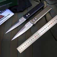 PROTECH 대부 920 자동 칼 floding 칼 자기 방어 사냥 포켓 나이프 전술 나이프 CNC 6061-T6 항공 알루미늄 핸들