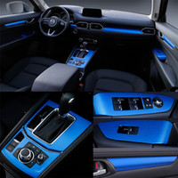 مازدا CX-5 2017-2019 الداخلية لوحة تحكم المركزي مقبض الباب 3D / 5D من ألياف الكربون ملصقات الشارات السيارات التصميم ملحقاتها