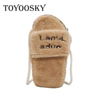 Designer TOYOOSKY New Arrivals Inverno Donna Borse Carino Slipper Shape Fashion 2019 Borsa donna per Ladies Flap Velour Mini Messenger Bag Sac