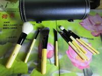 2019 أدوات بوبي ماكياج استحى واحد مجموعة ماكياج مجموعات فرشاة الصوف فرشاة رئيس خشبية مقبض اسطوانة 9PCS / ماكياج مجموعة دي إتش إل الشحن المجاني