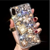 Luxury Rhinestone Phone case full Diamond perfume bottle DIY...