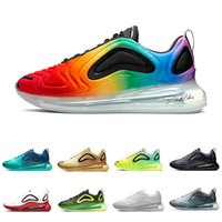 Nike AIR MAX 720 Sea Forest KPU OG Running shoes for men women Sunset Triple black Sunrise DESERT GOLD Mens trainers TPU Sports sneakers