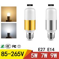 E27 E14 LED المصابيح AC85-265V 5W 7W 9W SMD2835 لا ستروب الصمام توفير الطاقة مصباح الذرة مصباح للمنزل قاعة نوم الإضاءة
