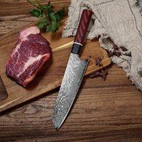 Cuchillo de cocina Damaskus G10 con Mango para Koch, cuchillo Cocina de 8 pulgadas, cuchillo corte de carne Sashimi para el hogar Messer