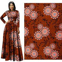 Costume nazionale africano Ankara Poliestere africano Cera Stampe Tessuto Binta Vera cera di alta qualità 6 yards tessuto africano per il vestito da festa