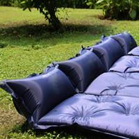 الذاتي النفخ التخييم لفة حصيرة النوم سرير قابل للنفخ وسادة الهواء مفرش حقيبة التخييم وسادة نزهة حصيرة الشاطئ الرملي حصيرة