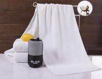 Cotton Fitness-Sport Handtuch weiß verdickte lange 120cm Yoga Basketball Outdoor-Sport-Handtücher Tuch individuelle Logo Verpackung 35 * 120cm