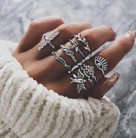 유럽과 미국은 개성 새 꿀벌 크라운 다이아몬드 분기 트리 다이아몬드 악마의 눈 링 아홉 조각 ring1238 과장