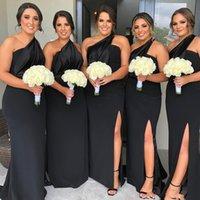 2020 Charming Bridesmaid Dresses One Shoulder Side Split Mer...