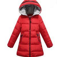 Cappotti di spessore ragazza cappotto per bambini Kids Fashion Casual Bambino Giacche per le bambine caldo inverno con cappuccio cappotti caramelle solido