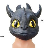 2 Stili Maschere senza denti Notte Fury come addestrare il vostro drago Maschere del partito di Cosplay del partito del fronte pieno della mascherina del partito del fumetto maschere CCA11377 10pcs