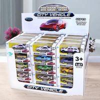 Bambini modello giocattolo simulazione auto mini cartoon in lega auto modelli giocattoli regali 1pcs (dimensioni: colore casuale)