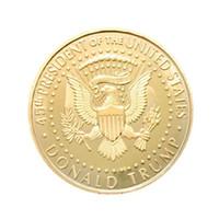Donald Trump Gedenkmünze Metall US-Präsident Kollektion Eagle Münzen Amerika Nationalflagge Souvenir EDC Badge Craft Goldfarbe 2 3yn C1