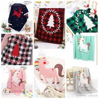 Xmas Knitted Blanket Baby Photo Blanket Cartoon Printed Air ...