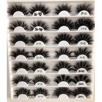 25mm 5D Wimpern Nerz dicke Wimpern kreuz und quer Grausamkeit freies Volumen Nerz Wimpern weiche große dramatische volle Wimpern Make-up-Tool Großhandel