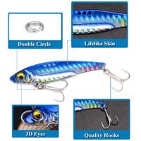Nueva largo de labios VIB láser hoja señuelo 5cm-8g-13g 6cm 6.5cm-16g 3size metal jigging carnada en dificultades