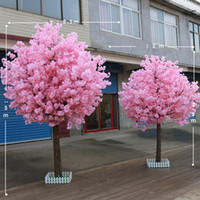 1. 8M 6. 5ft height pink color artifical cherry blossom tree C...