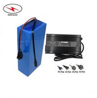 Pile della batteria al litio del ebike di trasporto libero 10PCS / Lot batteria di bici elettrica 72v 30ah 3000w 5000w con i caricatori