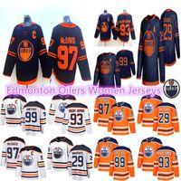 2019-2020 Edmonton Oilers Womens Jerseys 97 Connor McDavid Jersey 29 Leon Daisaitl 93 Ryan Nugent-Hopkins Hooks Hockey Jerseys