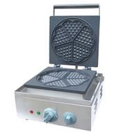 110 v 220 v Ticari Yapışmaz Waffle Baker Maker Elektrikli Kalp Şeklinde Waffle Yapma Makinesi Satılık