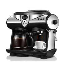 Máquina de café doméstico LCD tela de exibição totalmente automático cafeteira americana café espresso moedor feijão pó duplo usar coffe fazer